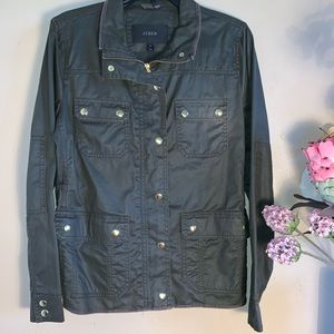 J.CREW women's jacket olive green military size M